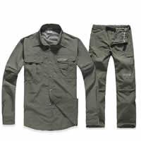 Chemical Fiber Men Sportswear Set breathable Pants   coat Solid Sold By Set