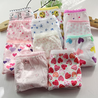 Cotton Baby Girl Underwear, different size for choice & regular, printed, mixed pattern, mixed colors, 12PCs/Lot, Sold By Lot