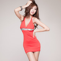 Spandex Halter Dress backless   above knee   skinny style with Sequin skirt   T-back printed different color and pattern for choice Size:Free Size 10PCs/Lot