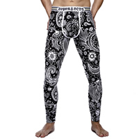 Spandex   Cotton Hip-hugger Men Thermal Long Johns thermal   breathable printed different color and pattern for choice