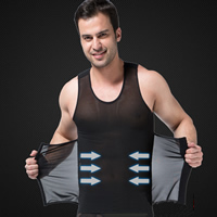 Nylon & Spandex Men Body Shaper Vest, different size for choice & skinny & shaped, Solid, more colors for choice, Sold By PC