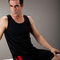 Polyester Men Athletic Tank breathable patchwork