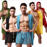Cotton Men Summer Pajama Set, different size for choice, Solid, more colors for choice, Sold By Set