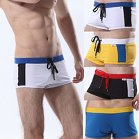 Polyester Hip-hugger Men Sports Pants regular   breathable patchwork 5PCs/Lot