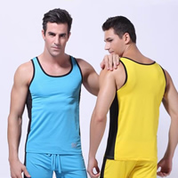 Spandex & Polyester Men Athletic Tank, different size for choice & regular & breathable, patchwork, more colors for choice, Sold By PC