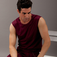 Polyester Men Athletic Tank, different size for choice & skinny & breathable, Solid, more colors for choice, Sold By PC