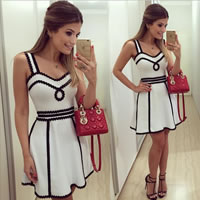 Cotton One-piece Dress Solid white