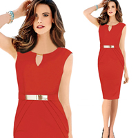 Polyester   Cotton One-piece Dress above knee Solid