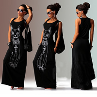 Spandex & Polyester One-piece Dress, different size for choice & floor-length, Cartoon, more colors for choice, Sold By PC