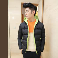 Polyester   Cotton Men Parkas regular   thermal   breathable Solid