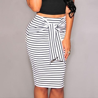 Polyester Skirt striped Sold By PC