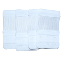 Nylon Bra Extender Solid white 10PCs/Lot Sold By Lot