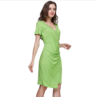 Polyester One-piece Dress Solid