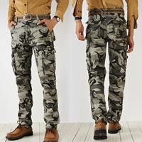 Cotton Middle Waist Men Casual Pants camouflage