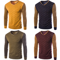 Cashmere & Polyester & Cotton Men Sweater, different size for choice & regular, patchwork, more colors for choice, Sold By PC