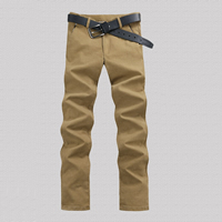 Polyester & Cotton Men Casual Pants, different size for choice & more thicker and more wool, Solid, more colors for choice, Sold By PC