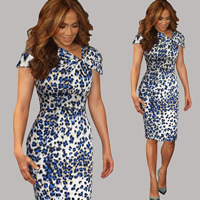 Polyester & Cotton One-piece Dress, different size for choice, printed, different color and pattern for choice, Sold By PC