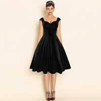 Cotton Ball Gown One-piece Dress Solid