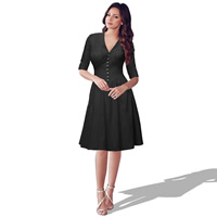 Polyester & Cotton Autumn and Winter Dress, different size for choice, Solid, more colors for choice, Sold By PC