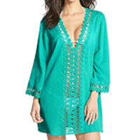 Chiffon & Polyester Swimming Cover Ups, hollow, Solid, more colors for choice, Size:Free Size, Sold By PC
