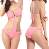 Spandex Monokini hollow   breathable Solid Size:Free Size 10PCs/Lot