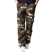 Cotton Middle Waist Men Casual Pants loose printed camouflage