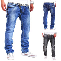 Denim Middle Waist Men Jeans Solid Sold By PC