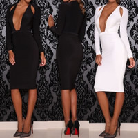 Milk Silk Sexy Package Hip Dresses, different size for choice & hollow, Solid, more colors for choice, Sold By PC