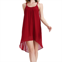 Chiffon Sexy One-piece Dress, backless & different size for choice, Solid, red, Sold By PC
