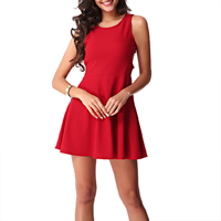 Knitted Sexy One-piece Dress, different size for choice & hollow, Solid, red, Sold By PC