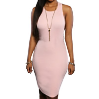 Nylon Sexy Package Hip Dresses, different size for choice, Solid, more colors for choice, Sold By PC