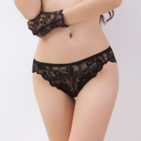 Lace & Cotton Hip-hugger Sexy Thong hollow & breathable floral Size:Free Size 10PCs/Lot Sold By Lot