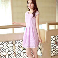 Organza Ball Gown One-piece Dress Solid Sold By PC