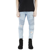 Acrylic   Cotton Men Jeans washed Solid