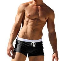 Nylon Hip-hugger Swimming Trunks, different size for choice, patchwork, more colors for choice, Sold By PC