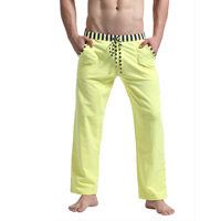 Cotton Men Sports Pants breathable patchwork Sold By PC