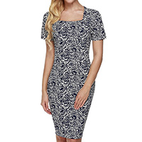 Polyester One-piece Dress, different size for choice, printed, floral, Sold By PC