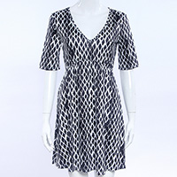 Polyester Princess One-piece Dress, different size for choice, printed, geometric, more colors for choice, Sold By PC