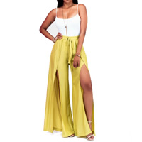 Line & Milk Silk Nightclub Set backless Pants & camis patchwork Sold By Set