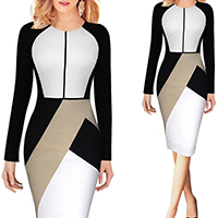 Spandex   Cotton Women Business Dress Suit knee-length patchwork Sold By PC