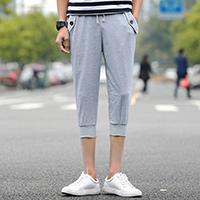 Polyester Middle Waist Men Capri Pants, different size for choice, patchwork, more colors for choice, Sold By PC
