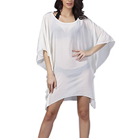 Chiffon Swimming Cover Ups transparent Solid beige Size:Free Size