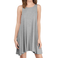 Modal One-piece Dress Solid Sold By PC