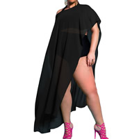 Spandex   Polyester Swimming Cover Ups Solid