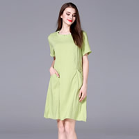 Cotton Fabric One-piece Dress, different size for choice, Solid, more colors for choice, Sold By PC