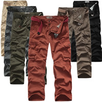 Cotton Men Casual Pants, different size for choice & loose, Solid, more colors for choice, Sold By PC