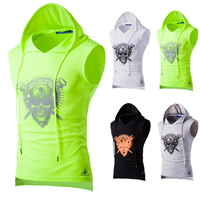 Polyester Men Sweatshirts breathable printed skull pattern Sold By PC
