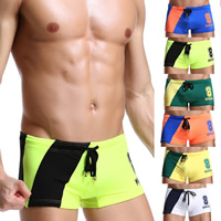 Nylon Swimming Trunks printed number pattern Sold By PC