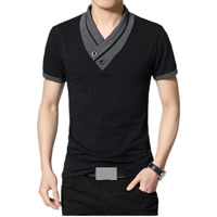 Cotton Plus Size Men Short Sleeve T-Shirt, different size for choice, patchwork, more colors for choice, Sold By PC