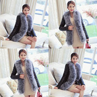 Fake Fur Plus Size Women Coat different styles for choice patchwork black Sold By PC
